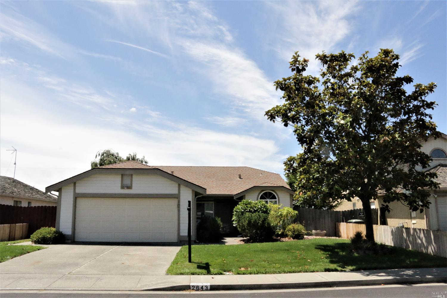 Another Property Sold - 2643 Shasta Court, Fairfield, CA 94533