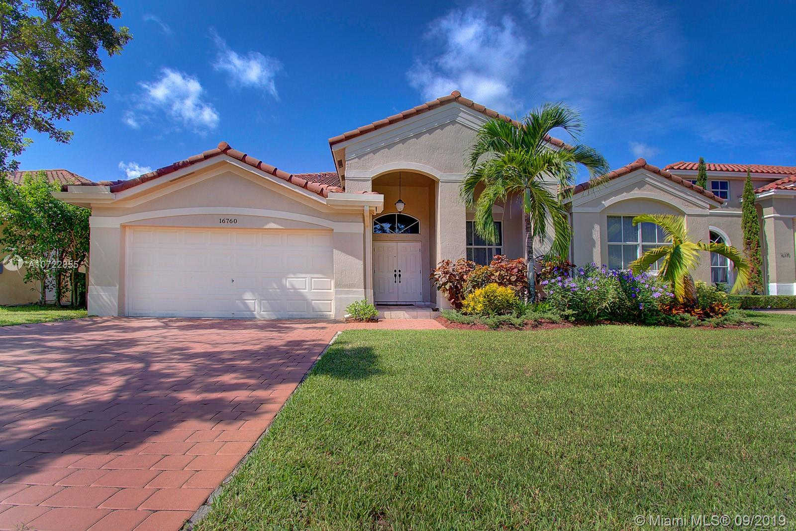 16760 SW 38th St, Miramar, FL 33027 is now new to the market!